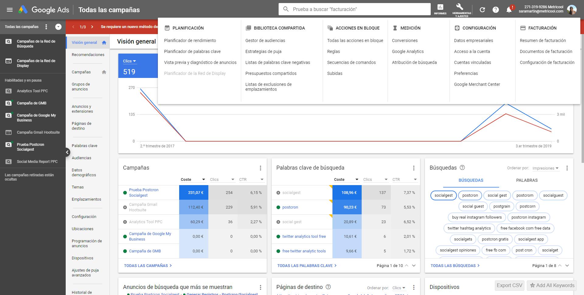 google ads keyword planner screenshot