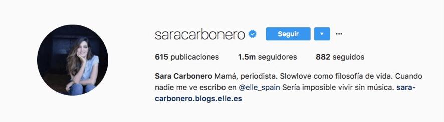 Instagram Sara Carbonero
