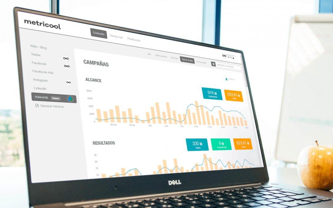 Statistiques Google Ads avec Metricool: les données de vos annonces publicitaires dans un même outil