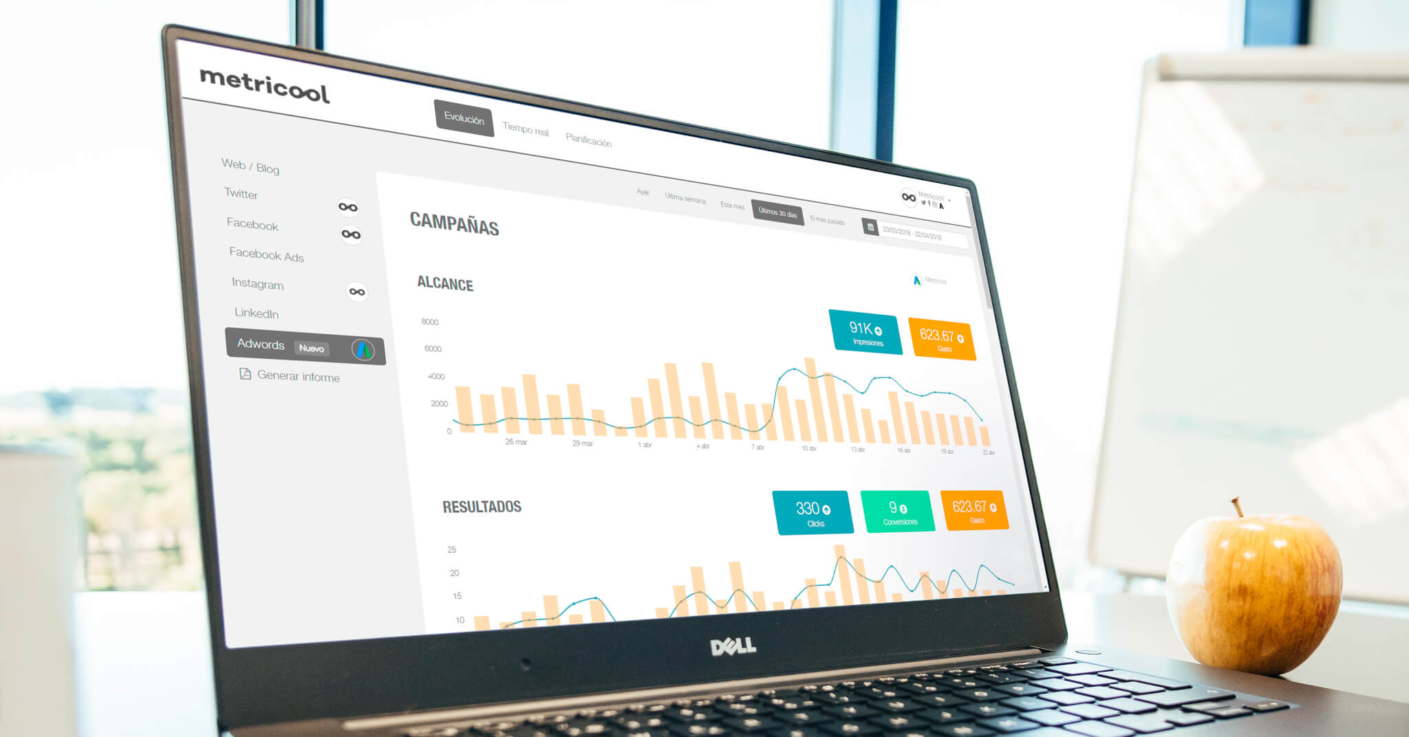 Online advertising with Metricool: All its features