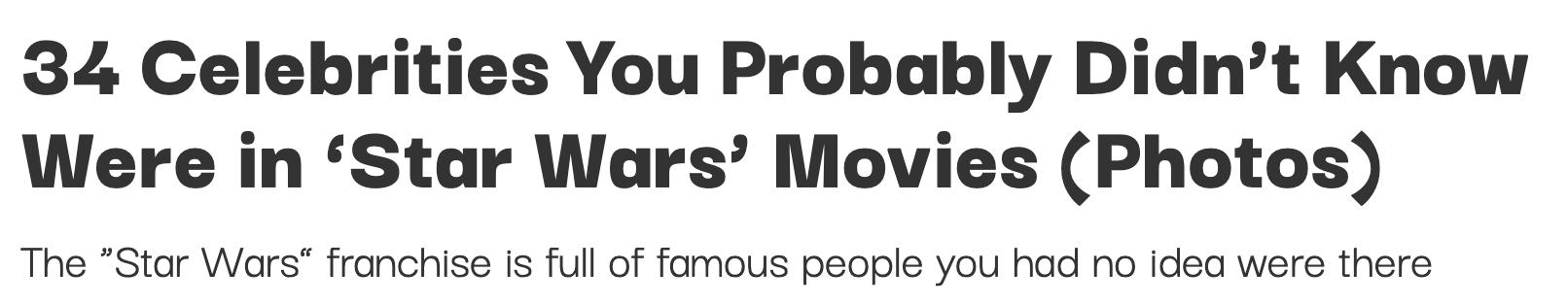eye-catching titles