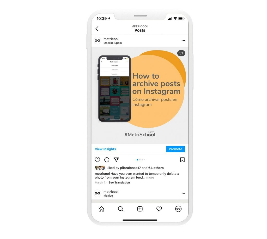 Texte alternatif sur Instagram