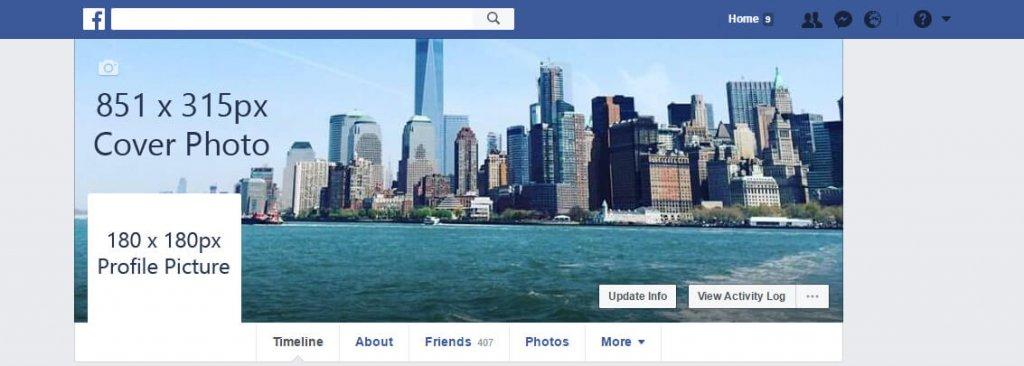 Foto portada facebook tamaño