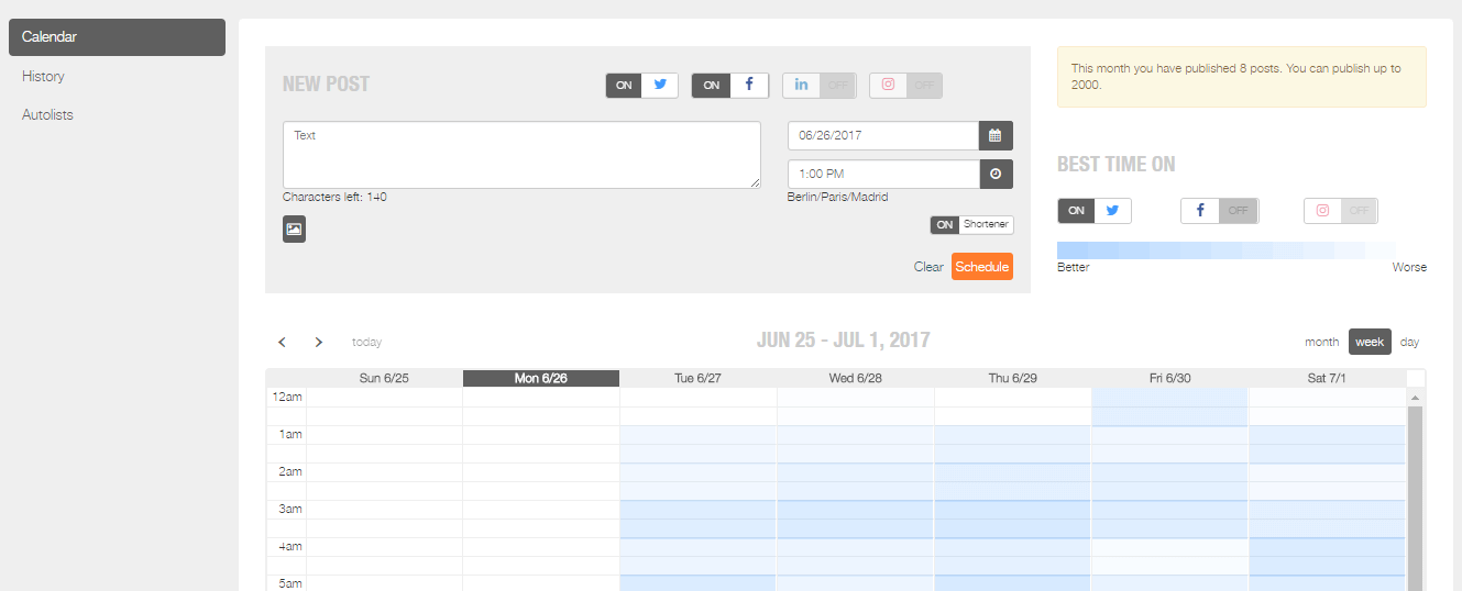 Content Scheduling with Metricool