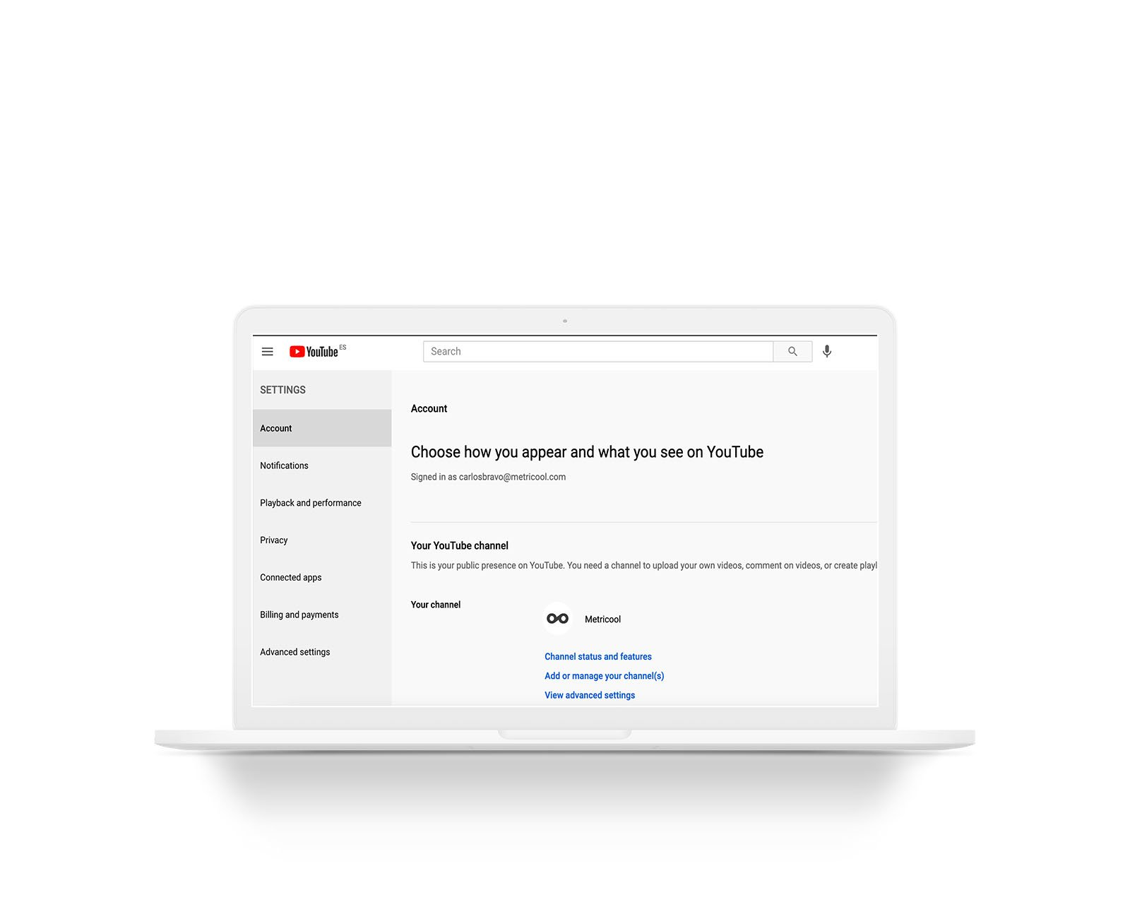 añadir administrador al canal de YouTube