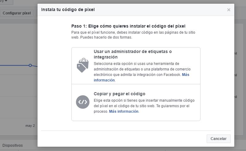 poner pixel de facebook en tu web