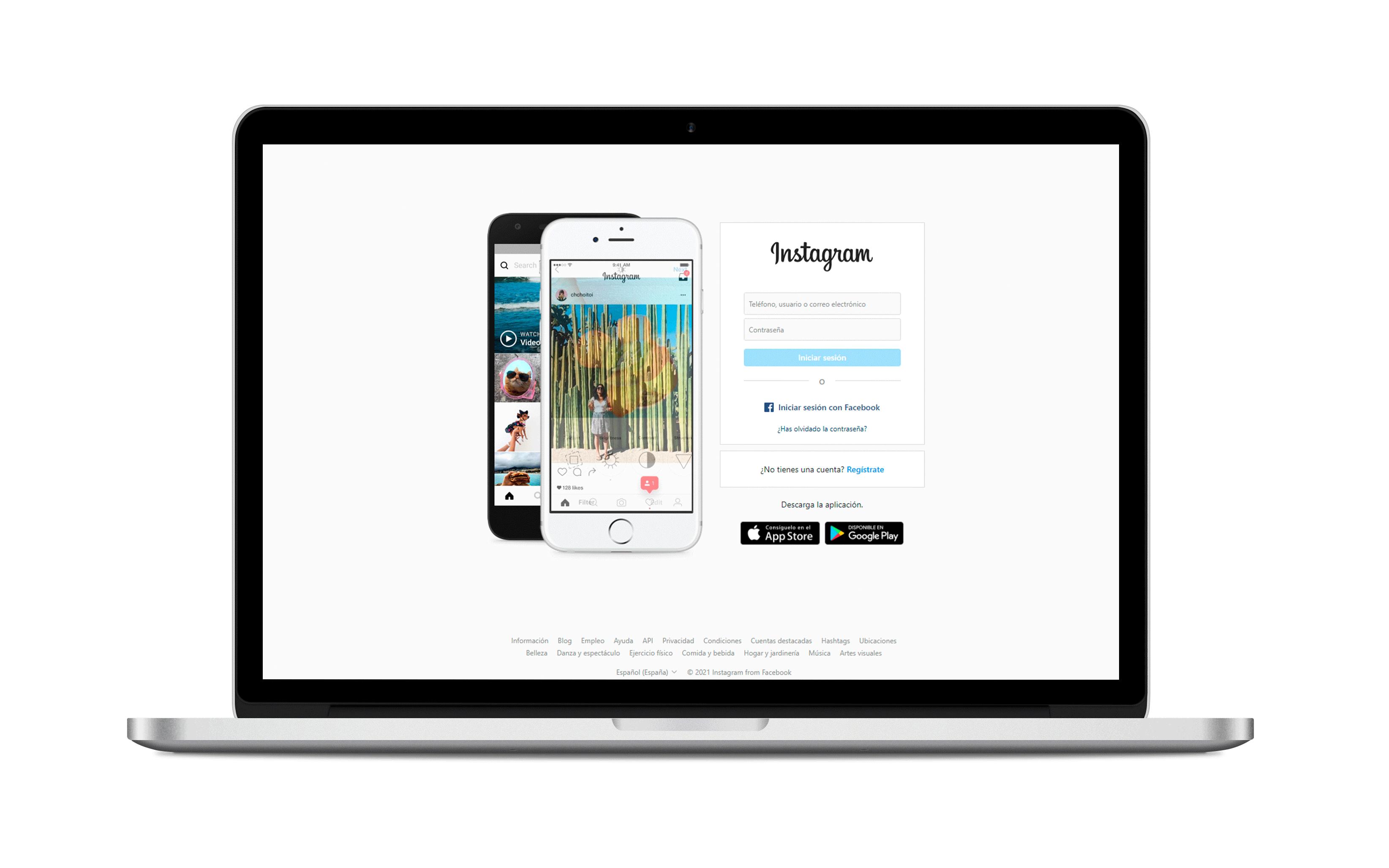 crear cuenta de Instagram desde el ordenador