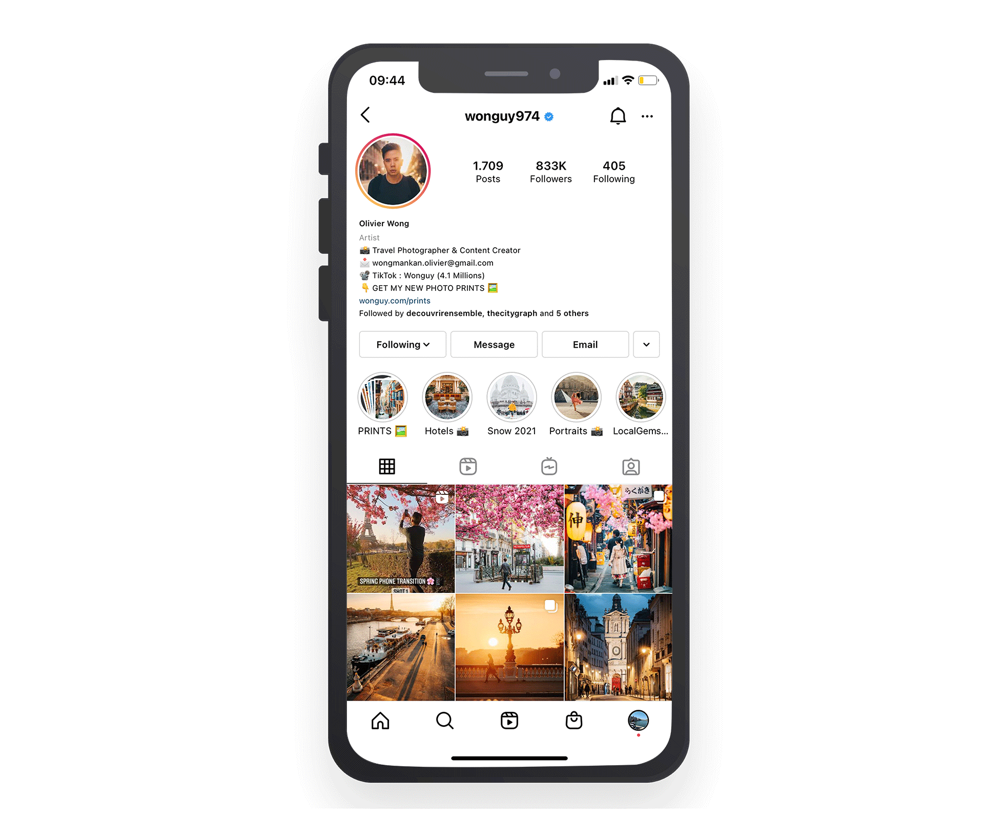 tipos de perfiles de Instagram de creador