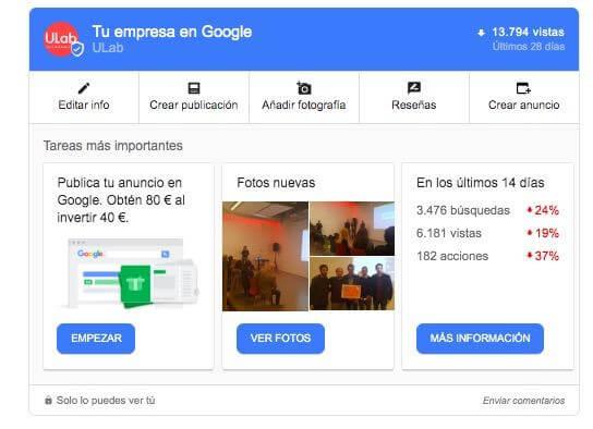 Publicaciones en Google My Business mi negocio