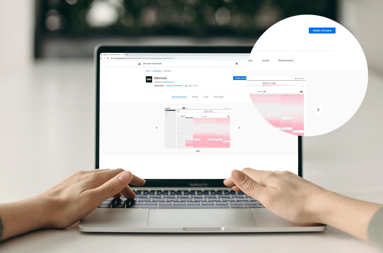 extension metricool sur google chrome