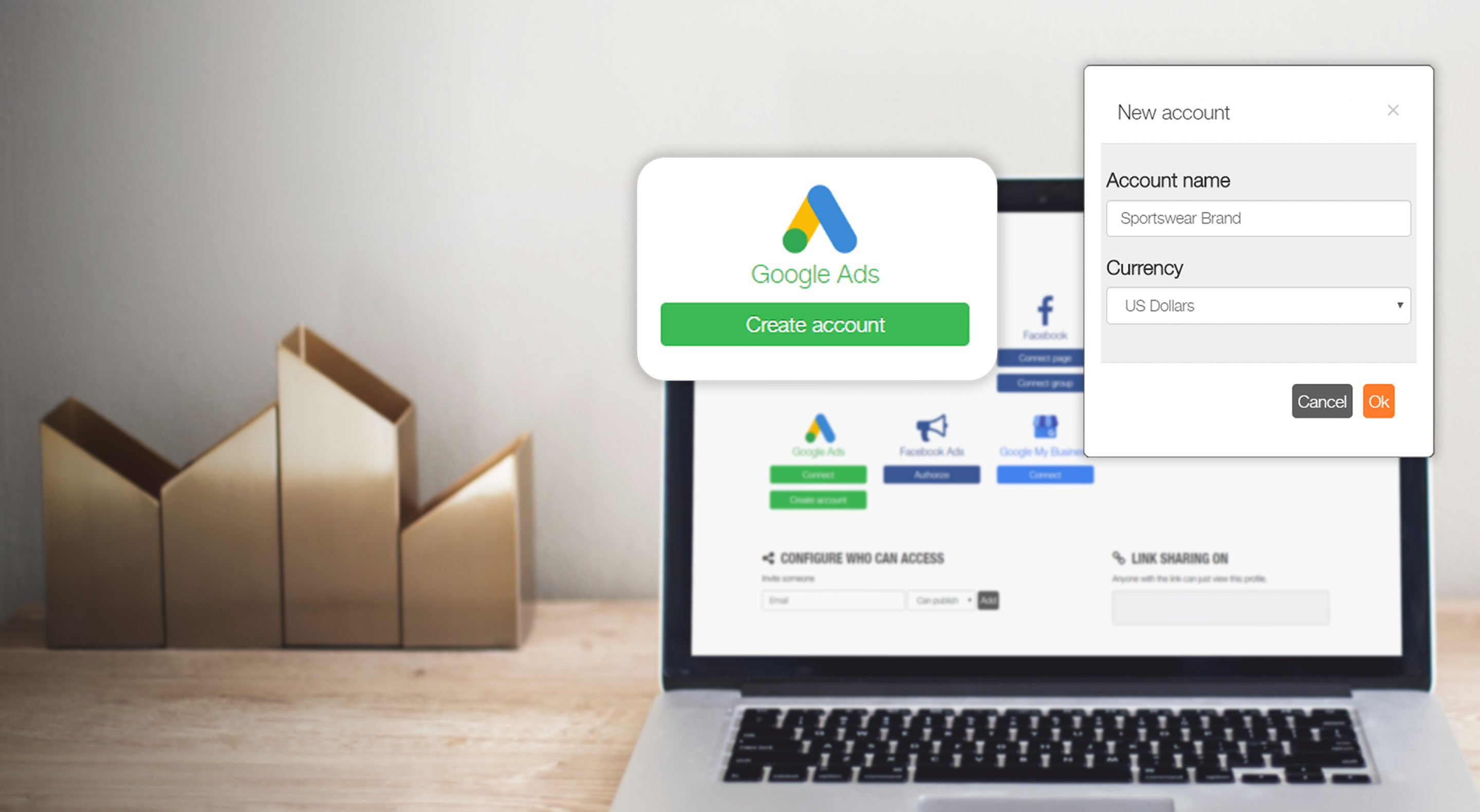 Create your Google Ads account from Metricool